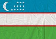 Uzbekistan grunge flag. Patriotic background. National flag of Uzbekistan royalty free stock photo