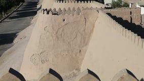 Uzbekistan. Khiva. Ancient city wall. Uzbekistan Khiva Ancient city wall stock video footage