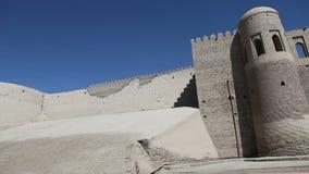 Uzbekistan. Khiva. Ancient city wall. Uzbekistan Khiva Ancient city wall stock footage