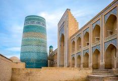 Uzbekistan. Khiva, the Kalta Minor minaret at Muhammad Amin Khan Madrassah Stock Photography