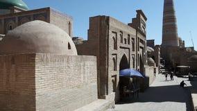Uzbekistan. Khiva. Streets of the old city. Uzbekistan Khiva. Streets of the old city stock footage