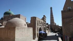 Uzbekistan. Khiva. Streets of the old city. Uzbekistan Khiva. Streets of the old city stock video footage