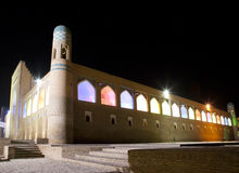 Uzbekistan. Khiva. Streets of the old city in night illumination Stock Photography