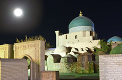 Uzbekistan. Khiva. Streets of the old city in night illumination Stock Images