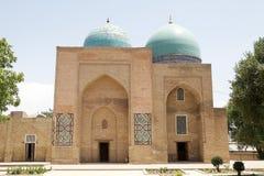 Uzbekistan. Kuk Gumbaz Mosque at the Dorut Tilavat complex, Shahrisabz, Uzbekistan.  Shahrisabz is the birthplace of Timur, the conqueror, in 14th century Stock Images
