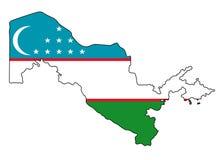 uzbekistan Mappa dell'illustrazione di vettore dell'Uzbekistan royalty illustrazione gratis