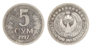 Uzbekistan old coin Stock Photos