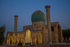 Uzbekistan piękny miasto Samarkand i Bukhara architektoniczni zabytki zdjęcia stock