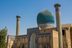 Uzbekistan piękny miasto Samarkand i Bukhara architektoniczni zabytki obrazy stock