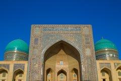 Uzbekistan piękny miasto Samarkand i Bukhara architektoniczni zabytki fotografia stock