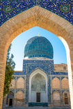 Uzbekistan. Samarkand, the blue dome of the Gur-Emir mausoleum thet protects the tomb of Tamerlane Stock Images