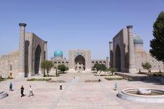 Uzbekistan Samarkand Gur-e Amir mausoleum. Building of Timur tomb Gur-e Amir mausoleum in Uzbekistan Samarkand city royalty free stock photo