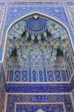 Uzbekistan Samarkand Gur-e Amir mausoleum decor. Building of Timur tomb Gur-e Amir mausoleum in Uzbekistan Samarkand city stock photo