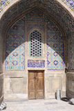 Uzbekistan Samarkand Veiw at Ulugh Beg Madrasah. The most popular historical place in Uzbekistan - Registan squire with three madrasahs. Ulugh Beg and Tilya-Kori Royalty Free Stock Images