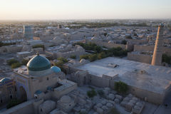 Uzbekistan. The sunset in the city of khiva in uzbekistan Royalty Free Stock Photos