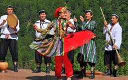 Uzbekistan-Tanz-Gruppe Lizenzfreie Stockfotografie