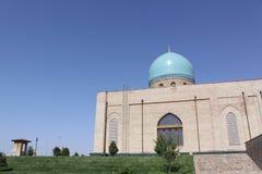 Uzbekistan Tashkent Historical Madrasa complex. Building of Timur tomb Gur-e Amir mausoleum in Uzbekistan Samarkand city royalty free stock images