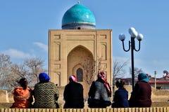 Uzbekistan. Travel through historical places in Uzbekistan stock images