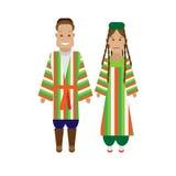 Uzbeks national dress Stock Image