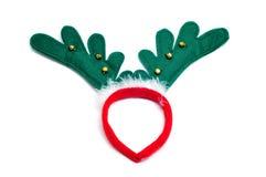 uzbrajać w rogi reniferowego Santa Obraz Royalty Free