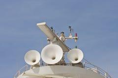 uzbrajać w rogi satelitarnych statki Obraz Stock