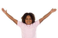 uzbrojony dziewczyny ją afrykanin szeroko rozpościerać Zdjęcie Stock