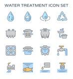 Uzdatnianie wody ikona Obrazy Royalty Free