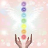 Uzdrawiać ręki Chakras i Siedem ilustracji
