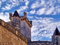 Uzes, France. Uzes village in the south of France;  Duke's Palace Stock Images