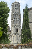 Uzes (France). Uzes (Gard, Languedoc-Roussillon, France) - Historic bell tower Stock Photos