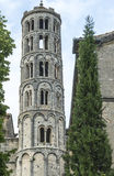 Uzes (France). Uzes (Gard, Languedoc-Roussillon, France) - Historic bell tower Stock Photo