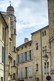 Uzes (France). Uzes (Gard, Languedoc-Roussillon, France) - Old typical houses Stock Photos