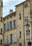 Uzes (France). Uzes (Gard, Languedoc-Roussillon, France) - Old typical houses Royalty Free Stock Photos
