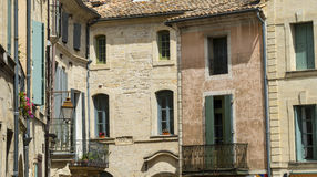 Uzes (France), houses. Uzes (Gard, Languedoc-Roussillon, France) - Old typical houses Royalty Free Stock Image
