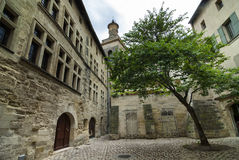 Uzes (Languedoc Roussillon, Frankrike) Arkivbild