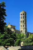 Uzes, south of France. Fenestrelle Tower, Saint-theodorit Cathedral In Uzes, south of France Royalty Free Stock Photos