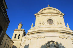 Uzes, south of France. St.Etienne cathedral in Uzes Provence,  south of France Royalty Free Stock Photos