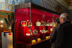 In Uzhgorodospita le corone di una mostra del mondo Immagini Stock