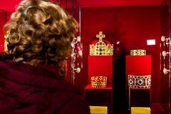 In Uzhgorodospita le corone di una mostra del mondo Immagini Stock Libere da Diritti