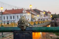 Uzhgorod, de Oekraïne, 29 Augustus, 2017: Minibeeldhouwwerk van Mikolaj Stock Foto