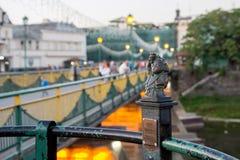 Uzhgorod, de Oekraïne, 29 Augustus, 2017: Minibeeldhouwwerk van vuurtoren Royalty-vrije Stock Afbeelding