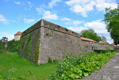 Uzhgorod fortress. Against the beautiful sky Stock Image