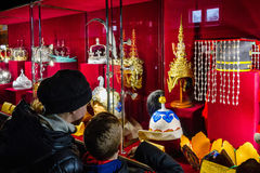 In Uzhgorodhosts an exhibition Crowns of the World Stock Image