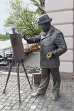Uzhgorod, Ukraine - April 27, 2016: Monument to the world-famous artist Ignatius Roshkovich Stock Photos