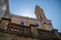 Uzhhorod, Ukraine - 8. April 2018: Griechischer Katholisch-Kathedrale herein Lizenzfreie Stockfotografie