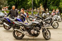 Lifestyle - bikers in the ride Stock Photos