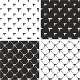 Uzi Gun Big & Small Seamless Pattern Set. This image is a illustration and can be scaled to any size without loss of resolution Stock Photos