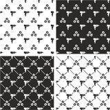 Uzi Gun & Bullet Holes Seamless Pattern Set. This image is a illustration and can be scaled to any size without loss of resolution Stock Image