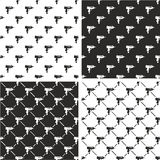 Uzi Gun Seamless Pattern Set. This image is a illustration and can be scaled to any size without loss of resolution Royalty Free Stock Images