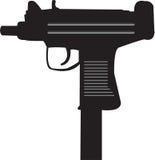 Uzi maszynowy pistolet Obrazy Stock